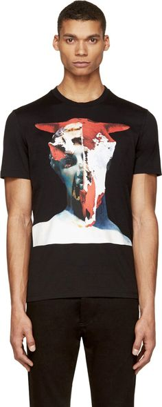 Givenchy Black Statue Mash-Up T-Shirt
