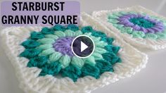 Hello everyone. Today I want to share with you this video tutorial of how to crochet a starburst granny square. This video is made by simplydaisy and explain you in minimal detail how to make this flower doily.   Complexity: Advanced Beginner Hope…
