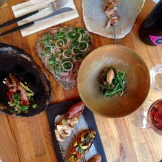 Binchotan grill and other summer dishes at #116pages #restaurantpages