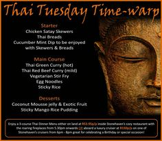 Tonight's Thai themed dinner menu Dinner Themes, Dinner Menu, Stir Fry With Egg, Chicken Satay Skewers, Coconut Mousse, Vegetarian Stir Fry, Rice Desserts, Beef Curry, Exotic Fruit