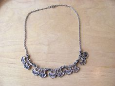 Scandinavian Vintage Brutalist Pewter Necklace