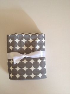 Grey Dots Organic Swaddling Blanket by Nooches on Etsy