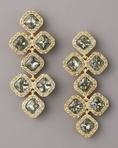 Pave Crystal Chandelier Earrings - Lyst