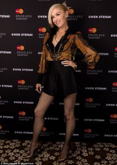 Smoking hot: Gwen Stefani was a sight for sore eyes at an exclusive MasterCard performance...