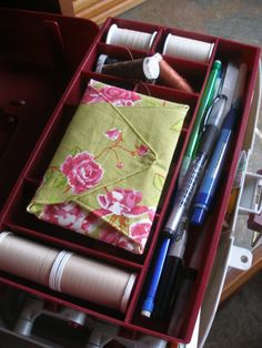 a pretty fabric envelope for sewing needles