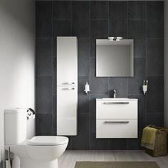 A stylish small bathroom with open plan design