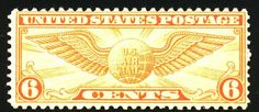 US Air Mail Postage Stamps | Stamp Museum >> North Americal Airmail Stamps >> Symbols: Wings on US ...