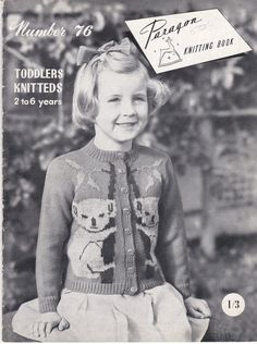 Paragon Knitting Book No 76 Toddlers Knitteds 2 by jennylouvintage