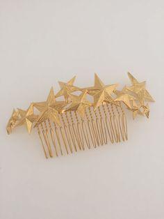Stars, gold stars, stars headpiece, stars hair pin, hair jewelry, headpiece, hair jewellery, bridal headpiece, bridesmais, hair comb