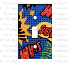 Custom Light Switch Plate / Cover Super Heroes by DowntonDesigns, $6.00