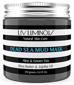 Liv Luminous Dead Sea Mud Mask for Face  Body 88oz  Minimize Pores Improve Complexion Decrease Acne Reduce Cellulite Exfoliate Detoxify Skin ** BEST VALUE BUY on Amazon