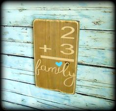 Handmade Wooden Gallery Wall Sign, Family Home Flash Card Sign, Family Number Sign Handmade Home Decor, Handmade Wooden, Diy Home Decor, Rustic Signs, Rustic Decor, Decor Vintage, Rustic Charm, Wooden Signs, Painted Signs