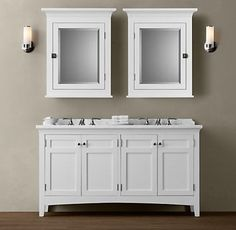 "Bathroom Sinks With Cabinet mayfield 60"" double sink vanitymission hills®$1099.99"