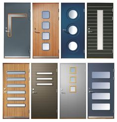 We can custom build any of these door designs (and more) at http://pivotdoorcompany.com/Exterior-Doors/.