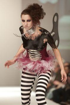 Beautiful performance and amazing work again from Haphazard clothing @FAToronto 2012. Metal work by Apa Design Jewellery