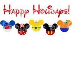Disney Happy Holidays Clip Art