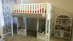 Hard Knots Designs - San Diego, CA, United States. Cottage style loft bed.