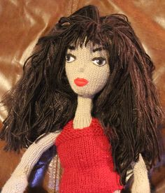 'babes in the wool' knitted doll