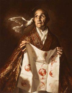 Introducing a Modern Master Catholic Art, Catholic Saints, Religious Art, Saint Gregory, Classic Artwork, Archangel Michael, Angel Art, Portrait Art, Portraits