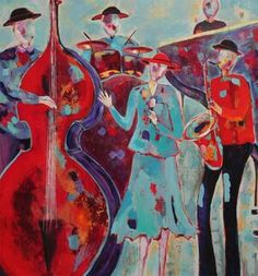 Rhythm and Blues A Night To Remember, Rhythm And Blues, Soul Sisters, Beautiful Mind, Figure Painting, Figurative, Lady In Red, Mystic, Abstract