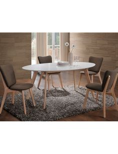 Modern dining room in Scandinavian style. Polish Signal Modern Furniture Store in London, United Kingdom Scandinavian Furniture, Modern Furniture, Scandinavian Style, Table Console Extensible, Dining Room Furniture Sets, Oval Table, Online Furniture Stores, Design Moderne, Dining Table In Kitchen