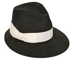 Pin for Later: Dieses Accessoire hat eurem Sommer-Outfit noch gefehlt  Borsalino Strohhut mit Hutband aus Ripsband (212 €)