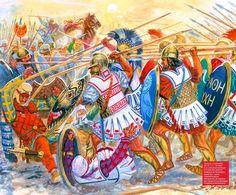 Battle of Cunaxa by Giuseppe Rava Ancient Greek City, Ancient Rome, Ancient Greece, Persian Warrior, Greek Warrior, Classical Greece, Classical Antiquity, Greek History, Ancient History