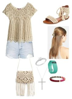 """""""Untitled #374"""" by rikey-byrnes on Polyvore featuring Topshop, Calypso St. Barth, Joie, France Luxe, Ice and Fitbit"""