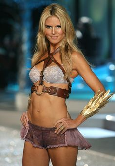 Heidi Klum, in Glamour Goddess collection of Victoria's Secret 2008