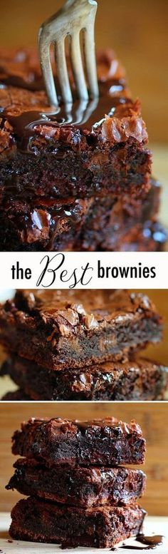 I have made these chocolate chocolate brownies and they ARE AMAZING! #Chocolatemousseeasy