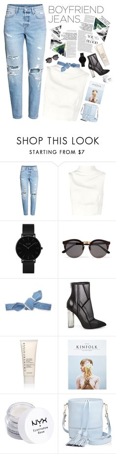 """""""boyfriend jeans"""" by valmatsier ❤ liked on Polyvore featuring Keepsake the Label, CLUSE, Illesteva, Colette Malouf, Steve Madden, Chantecaille, Kinfolk, NYX and Milly"""