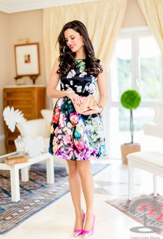 @roressclothes clothing ideas #women fashion dark floral little dress