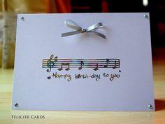 Happy Birthday To You Card / Musical Score Happy por FelicityCards