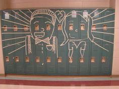Art of Apex High School: Masking Tape Murals