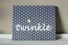 Een beklede #canvas 24x30cm met de kerst #twinkle. ook te maken met andere…
