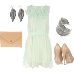 Spring Wedding Guest, created by #sarahtcole on #polyvore. #fashion #style Dorothy Perkins Miu Miu