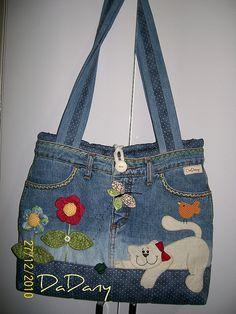 Resultado de imagen de bolsas de jeans