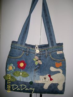 Kitty denim tote.
