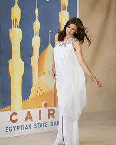 Love the Egyptian feel of this one-shoulder gown