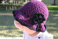 Free crochet pattern - Winter Lady baby girl hat - The Veggie Mama