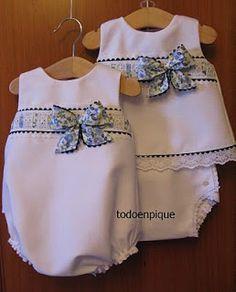 Blue dress in spanish bebe