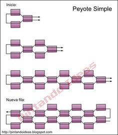 Best Seed Bead Jewelry 2017 Schema from pinner for celebration Brick Stitch ea Beading Techniques, Beading Tutorials, Beading Patterns, Tutorial Punto Peyote, Seed Bead Jewelry, Seed Beads, Beaded Necklace Patterns, Peyote Beading, Brick Stitch