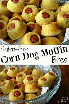 Gluten-Free Corn Dog Muffin Bites