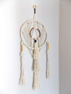 "Wall Hanging ""TAIKO"" by Himo Art, One of a kind Handcrafted Macrame"