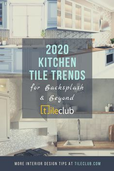The best kitchen tile décor and backsplash trends for 2020 and beyond from metallic tiles to solid white floor tile ideas and textured gray wall tiles