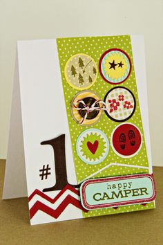 Happy Camper Card by Erin Lincoln for Papertrey Ink (May 2012)