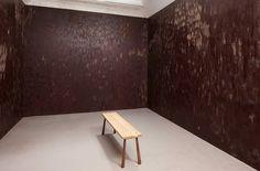 Anya Gallaccio is a British artist, who often works with organic matter. Born: 1963, Gallaccio assaults the senses with edible dark chocolate room - designboom | architecture & design magazine