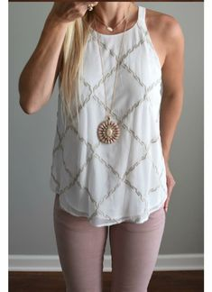Market and Spruce Adron embroidered blouse
