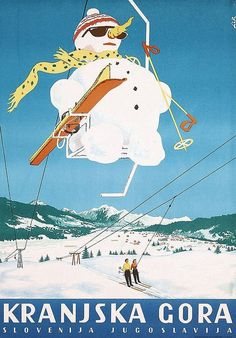 YU - 1970-tih - plakat - Kranjska Gora   by Bo_Mar