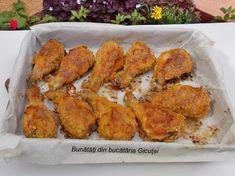 Pulpe de pui in invelis crocant, la cuptor - Bunătăți din bucătăria Gicuței Tandoori Chicken, Cooking, Ethnic Recipes, Food, Chicken, Cuisine, Kitchen, Meal, Kochen